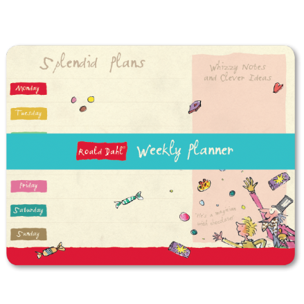 Roald Dahl 54 Sheet Tear Off Weekly Planner - Splendid Plans, Whizzy Notes And Clever